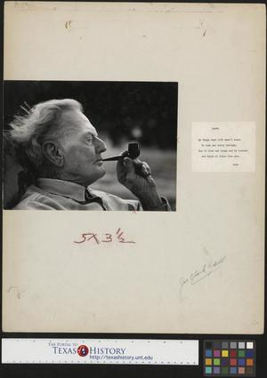 Primary view of object titled '[Portrait of Pappy Clark]'.