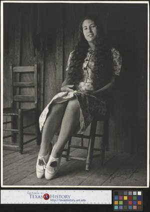 Primary view of object titled '[Erma Welch on her Porch(2)]'.