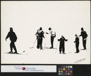 Primary view of object titled '[High-Contrast Winter Skiers]'.