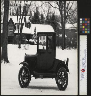 Primary view of object titled '[Ford Model T in Snow]'.