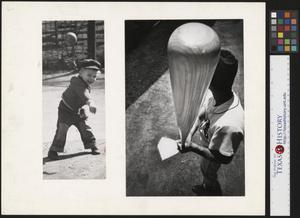 Primary view of object titled '[Our Our Way - Kids Playing Baseball]'.