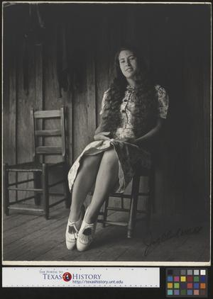 Primary view of object titled '[Erma Welch Sitting on Her Front Porch (3)]'.