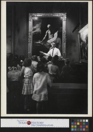 Primary view of object titled '[Children at the Detroit Art Institute]'.