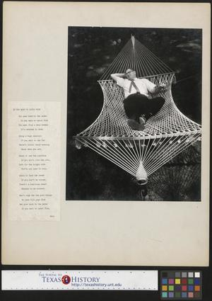 Primary view of object titled '[Joe Clark, HBSS Relaxing in a Hammock (2)]'.
