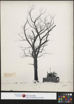Primary view of object titled '[Winter Scene with Bulldozer and Attached Poem]'.