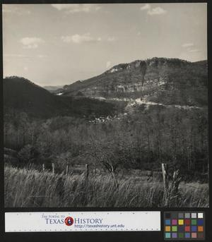 Primary view of object titled '[The Cumberland Gap and the City of Cumberland Gap, Tennessee]'.