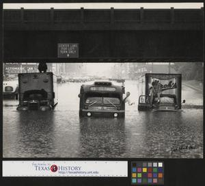 Primary view of object titled '[Vehicles Stuck in Flood Water]'.