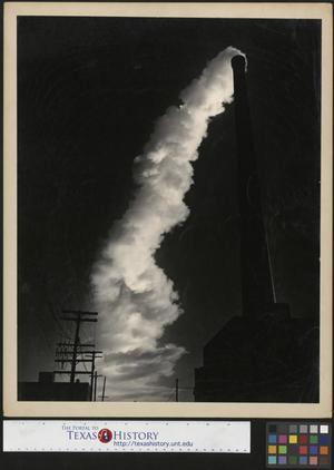 Primary view of object titled '[Smokestack billowing]'.
