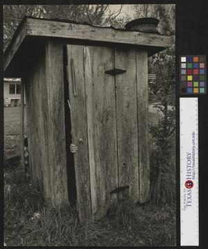 Primary view of object titled '[Outhouse at Jack Daniels Distillery]'.