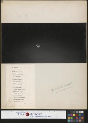 Primary view of object titled '[Water Droplet and Accompanying Poem]'.