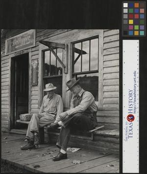 Primary view of object titled '[Two Men in Cumberland Gap]'.