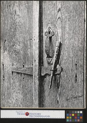 Primary view of object titled '[Latched Door]'.