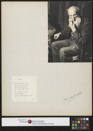 Primary view of object titled '[Elderly Man with Accompanying Poem]'.
