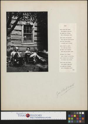 Primary view of object titled '[Man and Woman Outside House]'.