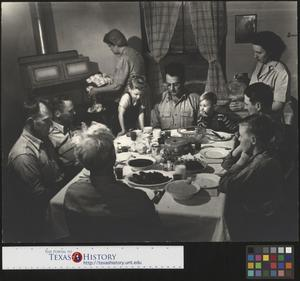 Primary view of object titled '[Clark Family Dinner Time]'.