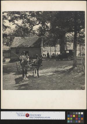 Primary view of object titled '[Family on horse drawn buggy]'.