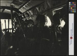 Primary view of object titled '[Military men on an airplane]'.