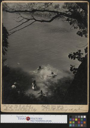 Primary view of object titled '[Children Swimming (Skinny-Dipping)]'.