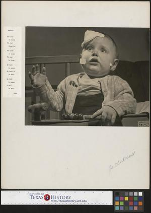 Primary view of object titled '[Baby Junebug Clark with accompanying poem]'.