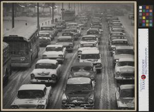 Primary view of object titled '[Detroit Winter Traffic Jam]'.