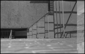 Primary view of object titled '[Fire escape and roof]'.
