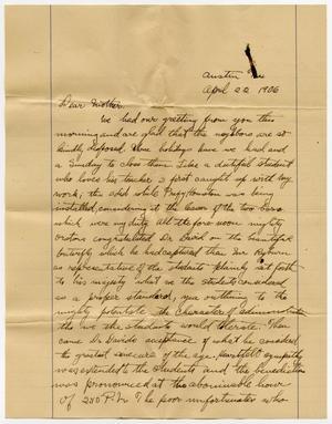 Una página amarilla con una carta manuscrita en tinta negra