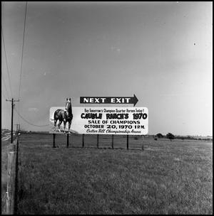Primary view of object titled '[Cauble Ranch sign (full view)]'.