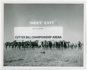 Primary view of object titled '[Cutter Bill sign]'.