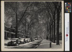 Primary view of object titled '[Snow Covered Street]'.
