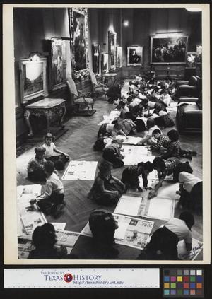 Primary view of object titled '[Art Class at the DIA]'.