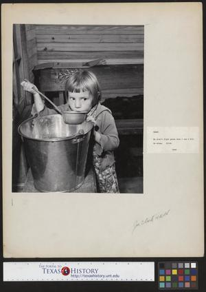 Primary view of object titled '[Mary Lee Williams Drinking]'.