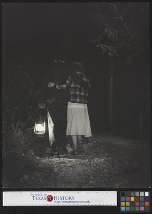 Primary view of object titled '[Walking His Girl Home at Midnight]'.