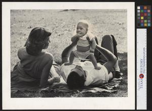 Primary view of object titled '[Family Picnic in Palmer Park]'.