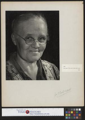 Primary view of object titled '[Aunt Nora Treece]'.