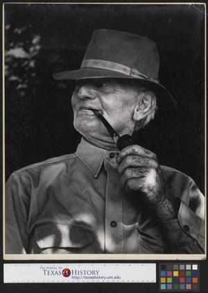 Primary view of object titled '[Grandpa Wade Hampton Clark, Sr. with His Pipe]'.