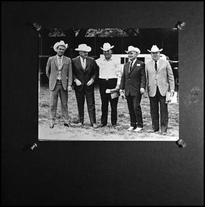Primary view of object titled '[Photograph of five cowboys]'.