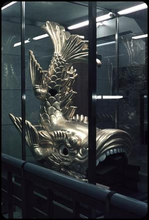 Primary view of object titled 'Gold dolphin - Nagoya Castle'.