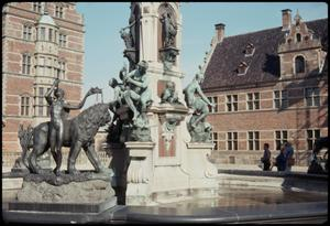 Primary view of object titled 'Courtyard fountain - Fredericksborg Castle'.