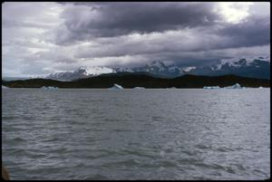 Primary view of object titled 'Enroute to Upsala icebergs and mountains - Upsala Glacier'.