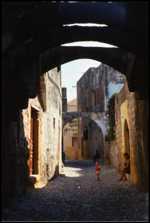 Primary view of object titled 'Rhodes streets'.