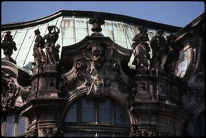 Primary view of object titled 'Front of entry - Zwinger Palace'.