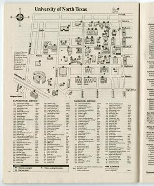 Primary view of object titled '[University of North Texas: Summer 1999, Campus Map]'.