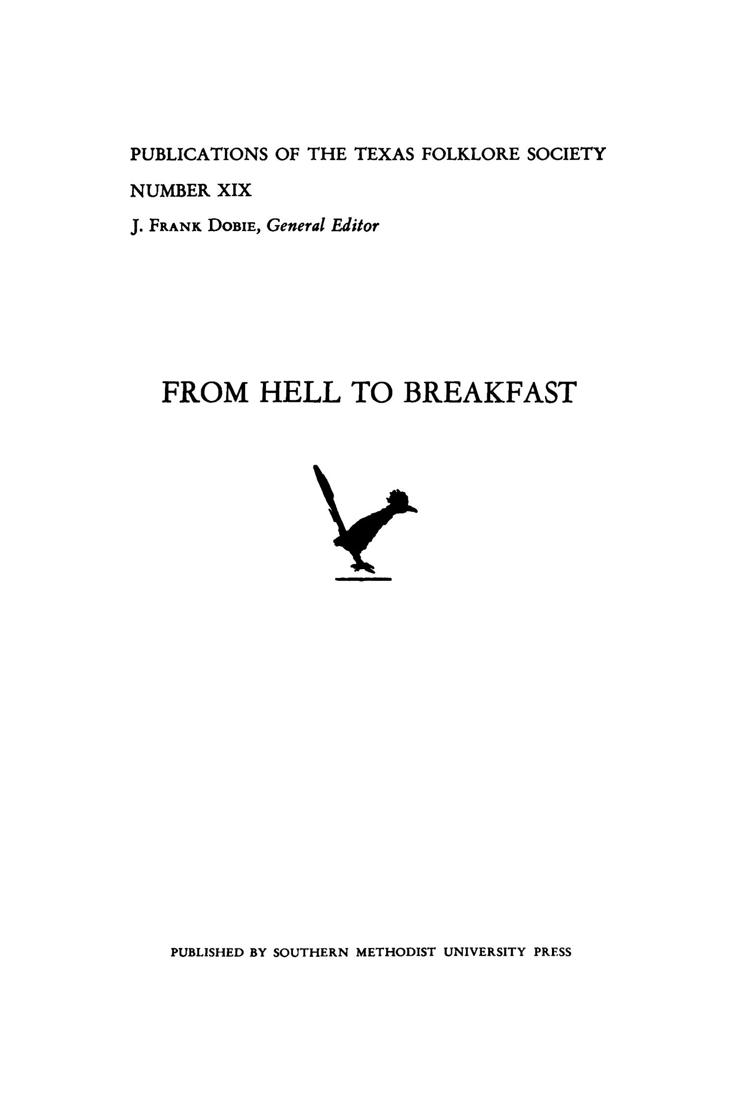 From Hell to Breakfast                                                                                                      None