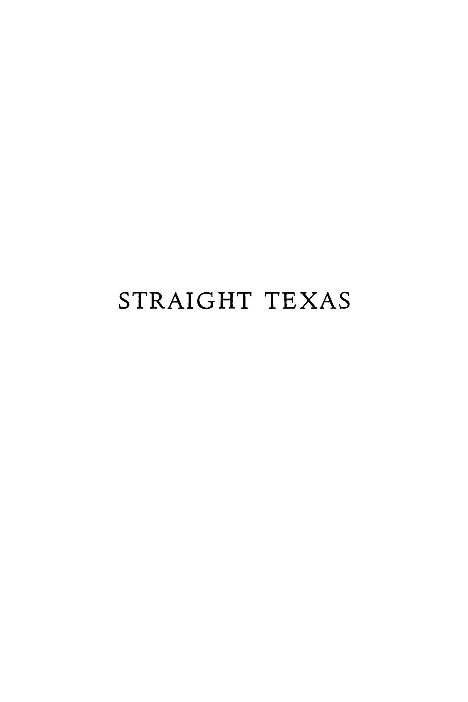Straight Texas                                                                                                      None