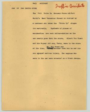 Primary view of object titled '[News Script: 7-11 accident]'.