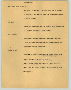 Primary view of object titled '[News Script: Buffs-Sports]'.