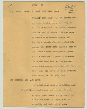 Primary view of object titled '[News Script: Storm FW]'.