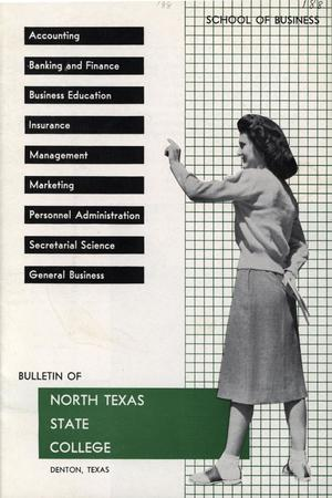 Primary view of object titled 'Bulletin of North Texas State College: Number 188'.