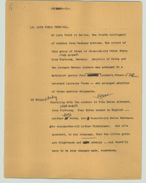 Primary view of object titled '[News Script: Orphans]'.