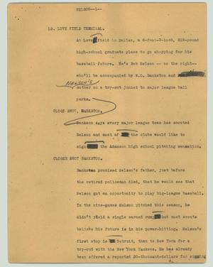 Primary view of object titled '[News Script: Nelson]'.